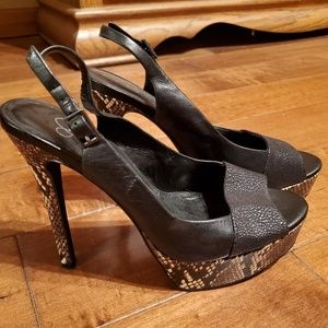 Jessica Simpson snakeskin shoes